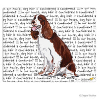 English Springer Spaniel, Liver and White Cutting Board