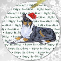 "Collie, Smooth ""Happy Howlidays"" Ornament"