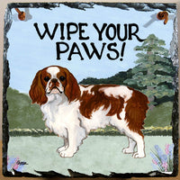 English Toy Spaniel, Blenheim Slate Sign