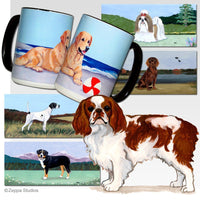 English Toy Spaniel, Blenheim Scenic Mug