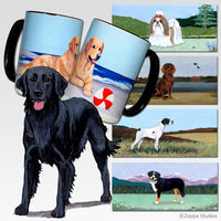 Flat Coated Retriever Scenic Mug