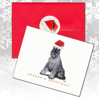 Schnauzer Christmas Note Cards
