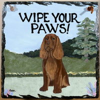 Sussex Spaniel Slate Sign