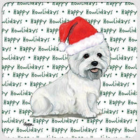 "West Highland White Terrier ""Happy Howlidays"" Coaster"