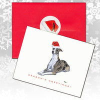 Whippet Christmas Note Cards