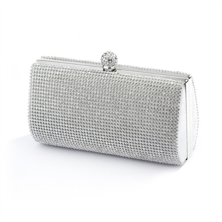 2-Sided Crystal Evening Bag Clutch Minaudiere 4394EB-S