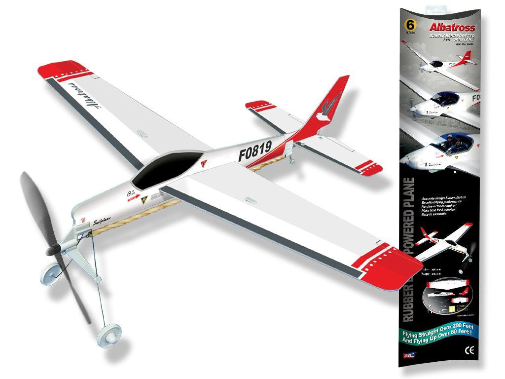Be Amazing Toys Albatross Rubberband Powered Plane 5006