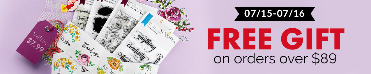 Get a FREE Floral Favor Stickers on orders over $89!