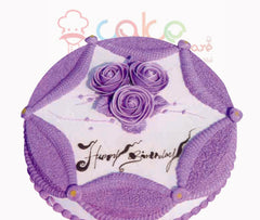 SD007- Purple Plush cake