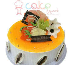 SD554 - Cream and Mango Cake