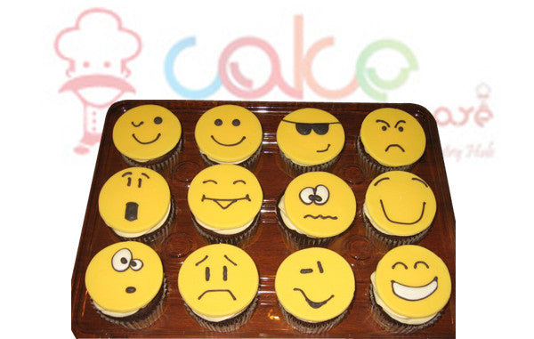 CP078- Smiley Faces Cupcakes
