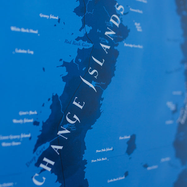 Fogo Island and Change Islands Map Poster