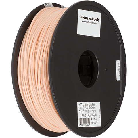 Prototype Supply 3.00mm PLA Flesh color 3D Printing Filament, 1kg (2.2 pounds)