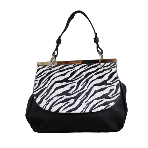 """NECILA"" ZEBRA STRIPED SATCHEL by lithyc - lithyc.com"