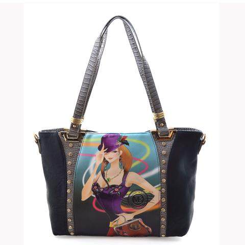 Michael Michelle 'Lizzy' Black Tote Bag For Women - lithyc.com