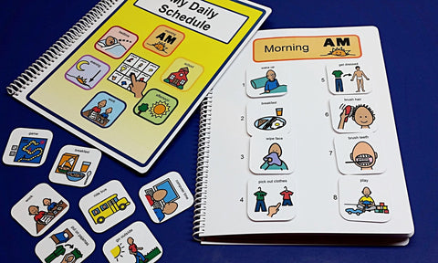 My Daily Schedule - Fully Loaded - Autism Daily Picture Schedule Book - 80 PECS