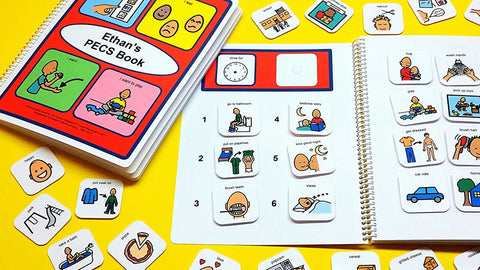 My PECS Starter Book - Autism 81 Visual Symbols! Visual Therapy Schedule Communication Book