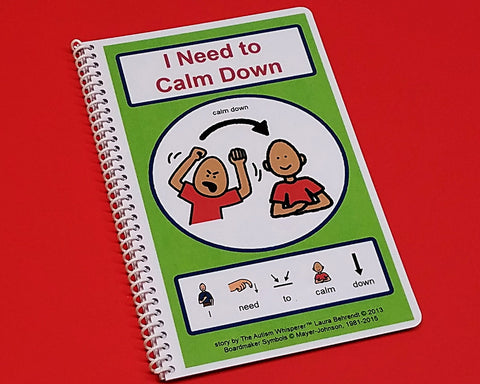 I Need to Calm Down - PECS Autism Social Skills Story Therapy Book