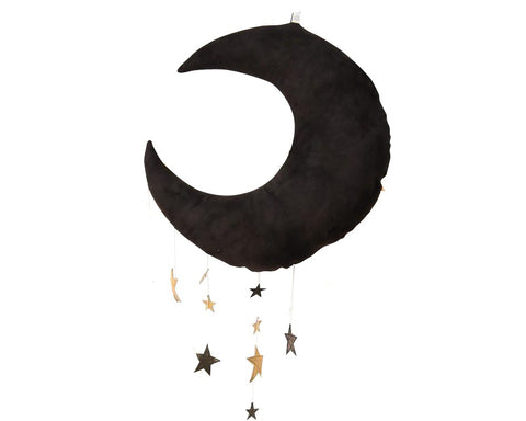 Black Cascading Moon Mobile - Baby Jives Co