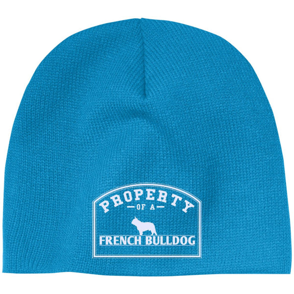 French Bulldog - Property Of A French Bulldog - Beanie (Embroidered)