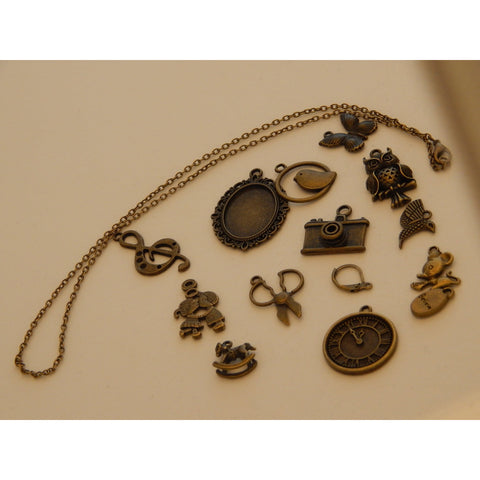 Bronze Coloured/Brass Charms and Findings Mixed Designs - buy from J G Creations (Australia)