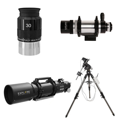 Explore Scientific ED102-FCD100 Series Air-Spaced Triplet Telescope CF Combo