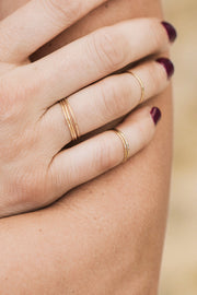 Handcrafted Brass Stacked Rings