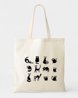 Cats Canvas Tote Bags - GeorgiaBags