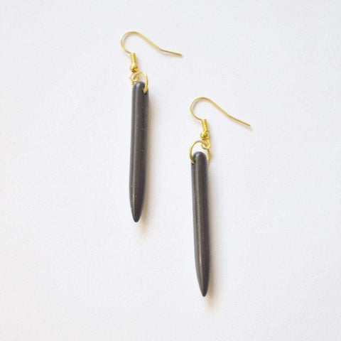 Simple Tribal Immunity | Gemstone Dangle Earrings | Black | Cream | Red - Alora Boutique