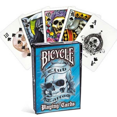 Bicycle Club Tattoo Playing Cards