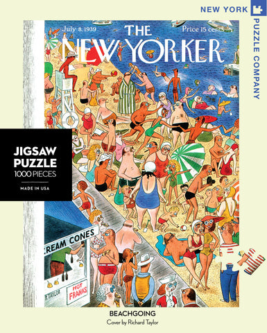 The New Yorker 1000 Piece Jigsaw Puzzle - Beachgoing