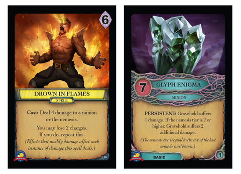 Aeon's End:  Promos – Drown in Flames / Glyph Enigma