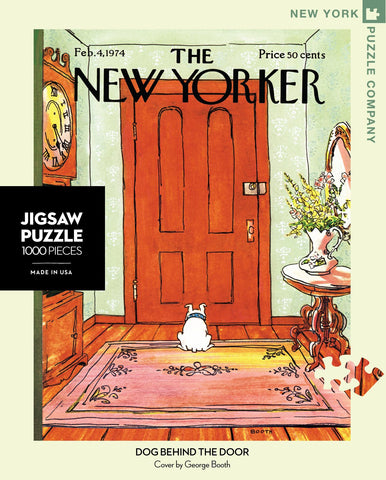 The New Yorker 1000 Piece Jigsaw Puzzle  - Dog Behind the Door