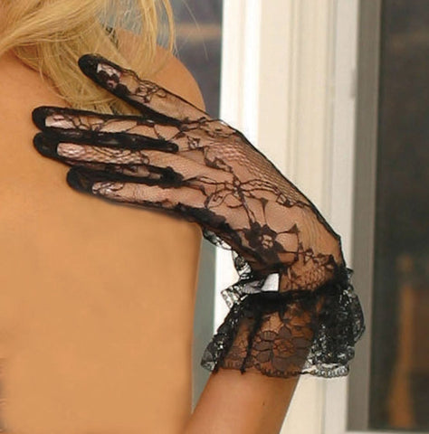 Lace wrist length gloves - Gloves-Jewels - CurvynBeautiful