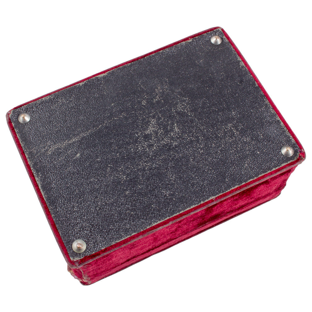 Antique Velvet Sewing Box found in France (ca. 1910)