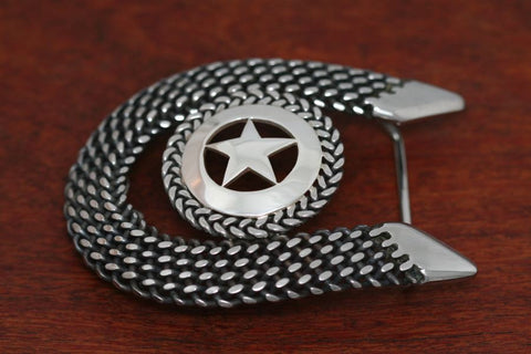 Cinco Peso Star Belt Buckle