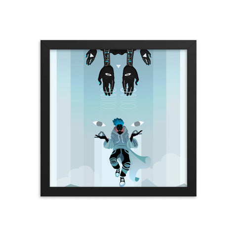 Levitate - Framed poster - Apparel, planetlucid - Planet Lucid,  - accessories