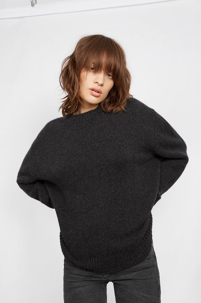 Anine Bing ROSIE CASHMERE KNIT IN CHARCOAL