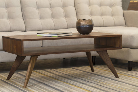Modern Coffee Table Solid Wood Handmade Mid Century Modern Organic Danish Scandinavian