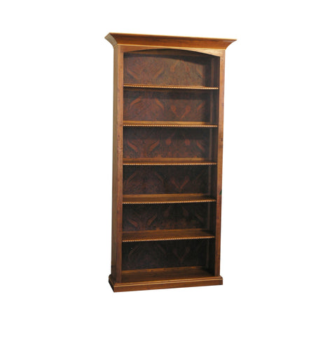 Custom Walnut Burl Bookcase
