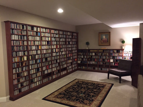 Custom Bookcases for CD Collector