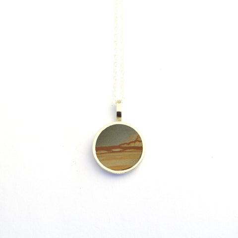 Landscape Jasper and Sterling Inlay Necklace