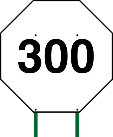 Distance Sign Octagonal White 300