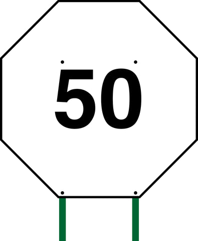 Distance Sign Octagonal White 50