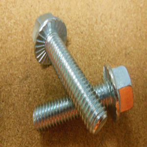 1/4''-20 Grade 5 Serrated Hex Flange Bolt