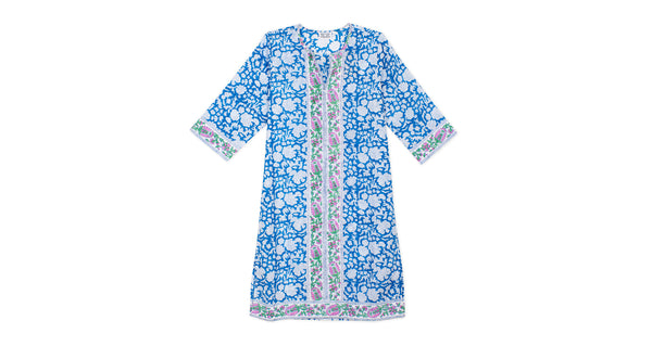 Long Kurta in Blue Padra