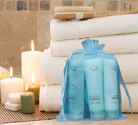 Hydro Spa Room Ready Kit in Organza Drawstring bag (Small) ~ (10 per case) $3.89 each or less