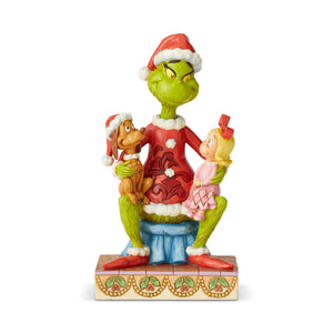Jim Shore Grinch With Cindy And Max Figurine New with Box