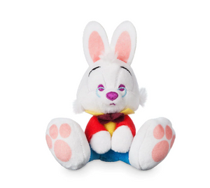 Disney White Rabbit Alice in Wonderland Tiny Big Feet Plush Micro New With Tags