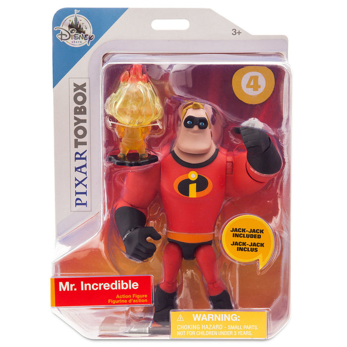 Disney Store Mr. Incredible and Jack-Jack Action Figure Set PIXAR Toybox New